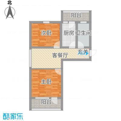 普利永庆街1号77.34㎡D户型2室1厅1卫