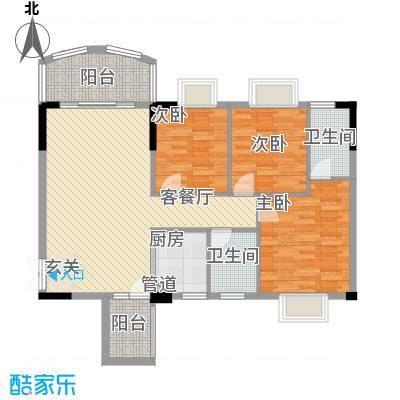 森邻美域14.74㎡4、5、6、7号楼02户型3室2厅2卫1厨