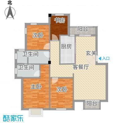 滨海龙湾户型4室2厅1卫1厨