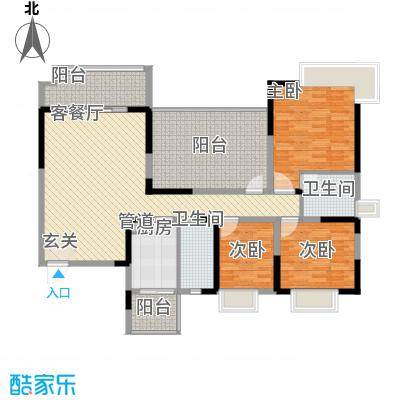 中庚香海上峰户型3室