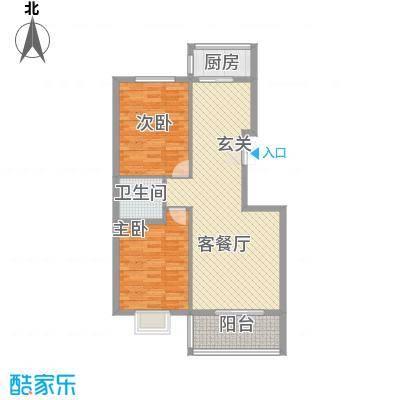 新恒生大厦户型2室