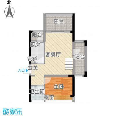 太东・棕榈泉87.00㎡5栋06复式下层户型3室1厅1卫1厨