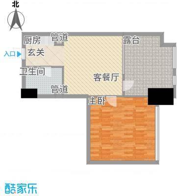 如意商务公寓83.60㎡10户型1室2厅1卫1厨