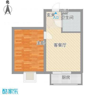 九九添伍兰庭5.67㎡户型