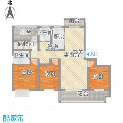 招商雍和苑14.00㎡高层A1户型4室2厅2卫1厨