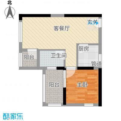 万佳公寓2居户型