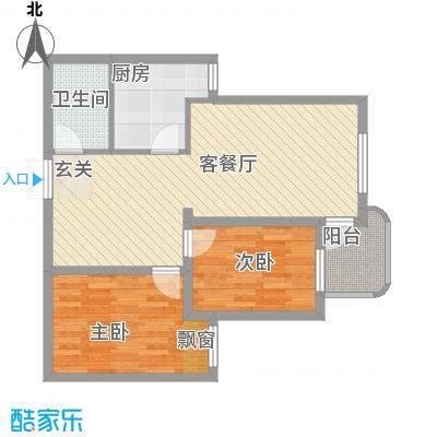 沧海苑18户型2室2厅1卫1厨
