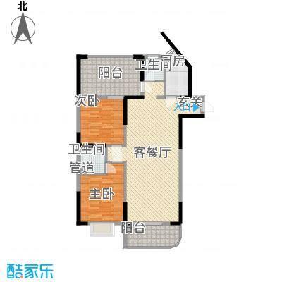 兴福楼户型2室1厅1卫1厨