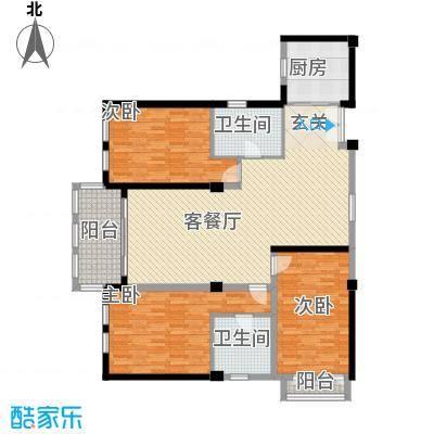 科技村7户型3室2厅2卫1厨