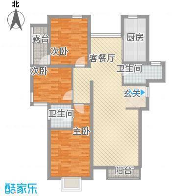 科技村8户型3室2厅2卫1厨