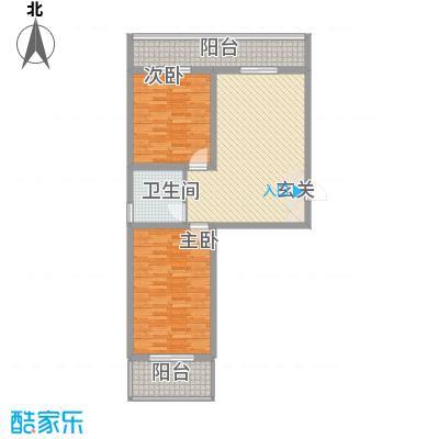 阳光晟景4.58㎡A1户型2室1厅1卫1厨