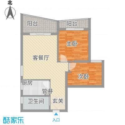 泉舜信宇花园36547831848c72d2b3d908户型2室2厅1卫1厨