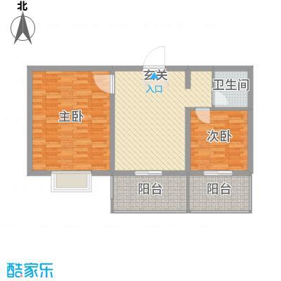 阳光晟景74.10㎡A2户型2室1厅1卫1厨