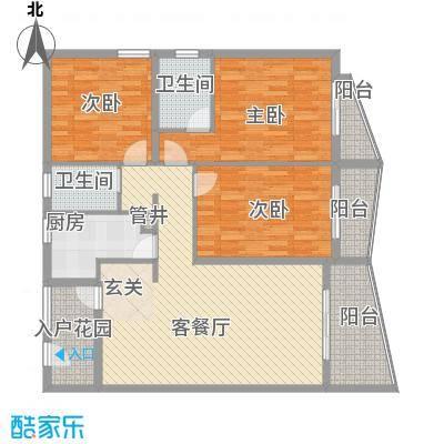 泉舜信宇花园115616352748c72d2b0fb75户型3室2厅2卫1厨