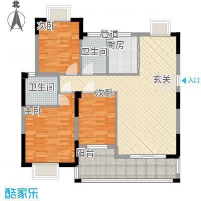 五福楼户型3室2厅2卫1厨