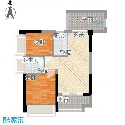 丰逸尚居A1栋04户型2室2厅1卫1厨
