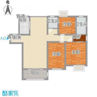 唐荣天润新城125.00㎡2、3#E户型3室2厅2卫