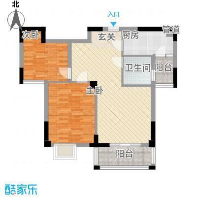 五福楼户型2室1厅1卫1厨