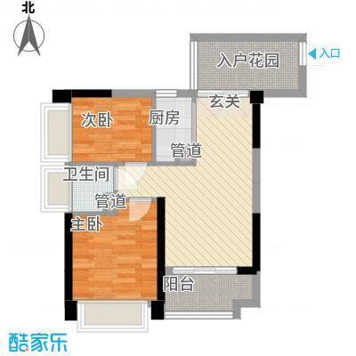 丰逸尚居63.60㎡A1和A2栋01/04户型2室2厅1卫1厨