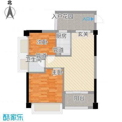 丰逸尚居A2栋01/04户型2室2厅1卫1厨
