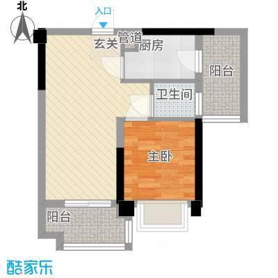 丰逸尚居A1栋03户型1室2厅1卫1厨
