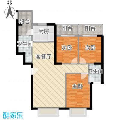 王子广场123.00㎡C户型3室2厅2卫1厨