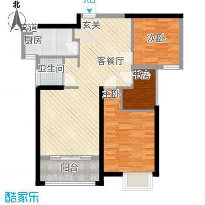唐荣天润新城87.00㎡1#A户型1室2厅1卫