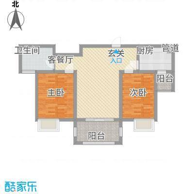 唐荣天润新城2.00㎡2、3#C户型2室2厅1卫