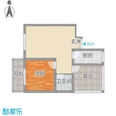 蔺高佳苑74.70㎡B1-1户型1室2厅1卫1厨