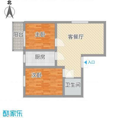 蔺高佳苑87.11㎡B2户型2室2厅1卫1厨