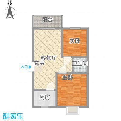 蔺高佳苑85.85㎡B3户型2室2厅1卫1厨