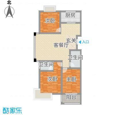 文景苑12.00㎡户型3室