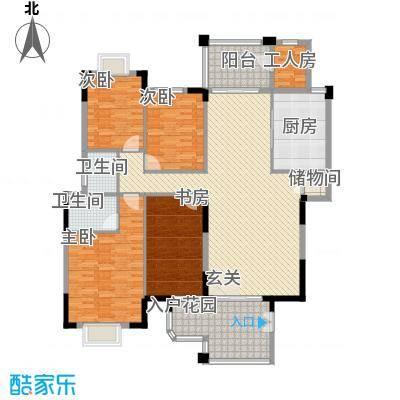 鸿升大厦115.00㎡户型3室