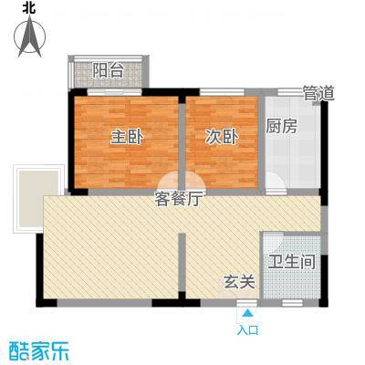 德轩公寓户型2室