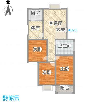 德轩公寓户型3室