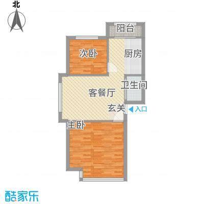 鹭江海景花园34户型2室2厅1卫1厨