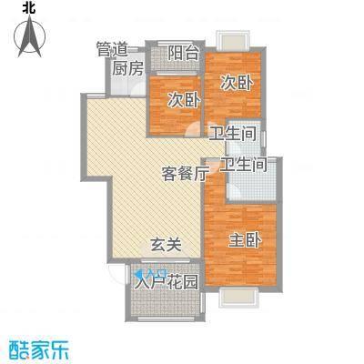 阳光翠庭11.13㎡二期1号楼4梯02单元户型3室2厅2卫1厨