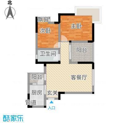 鹏润蓝海户型3室