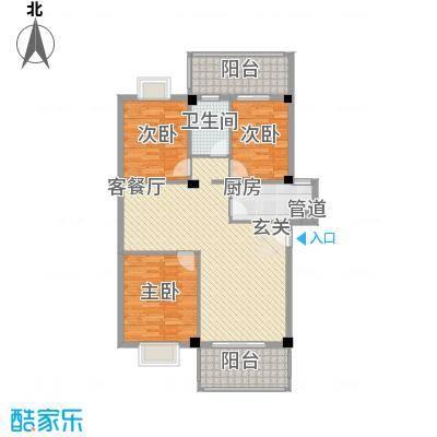 印象后街(鸿禧花园)17.80㎡A区02单元户型3室2厅1卫1厨