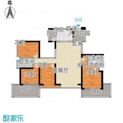 金光华龙岸花园166.00㎡2栋E+F户型