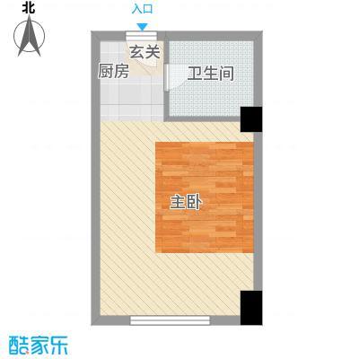 风华公寓5.35㎡A户型1室1厅1卫1厨