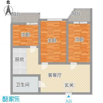 中俄公馆75.00㎡户型