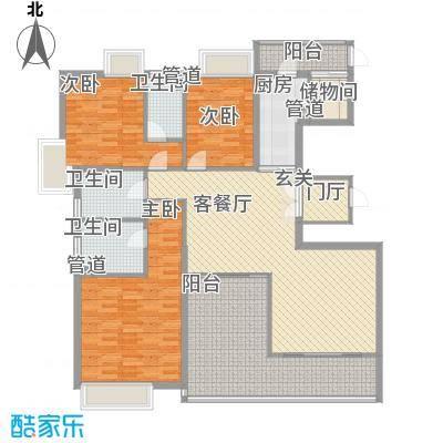 明丰东江府183.00㎡尚座B1型户型3室3厅3卫