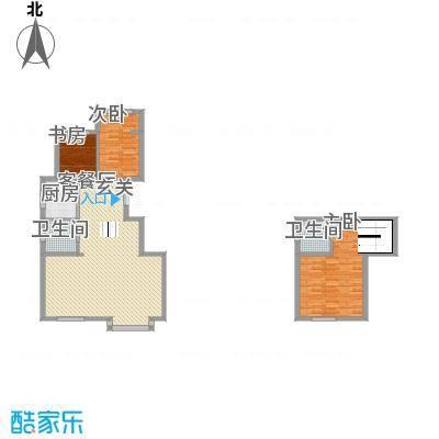 东方嘉苑127.00㎡复式户型3室2厅1卫1厨