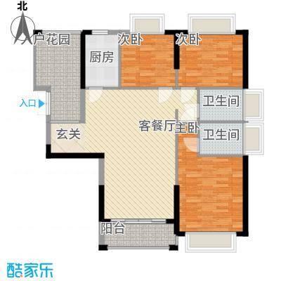 景跃YOYO水岸户型3室