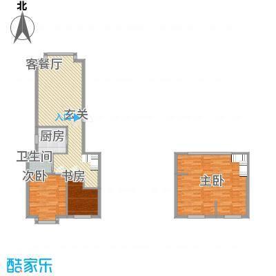 东方嘉苑124.00㎡复式户型3室2厅1卫1厨
