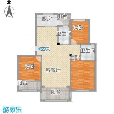 青林嘉园12.00㎡D户型3室2厅2卫1厨