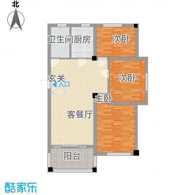 青林嘉园14.00㎡E户型3室2厅1卫1厨