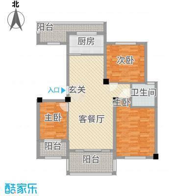 青林嘉园111.00㎡B户型3室2厅2卫1厨