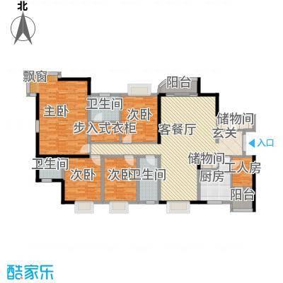 长安城市花园132.00㎡户型3室